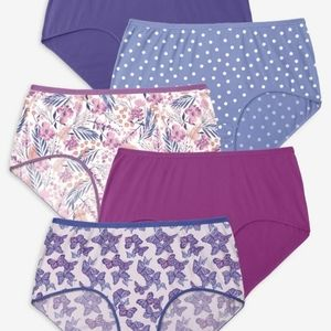 Comfort Choice 5 Pack Pure Cotton Full Cut Brief